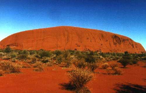 foto ayers rock von oben